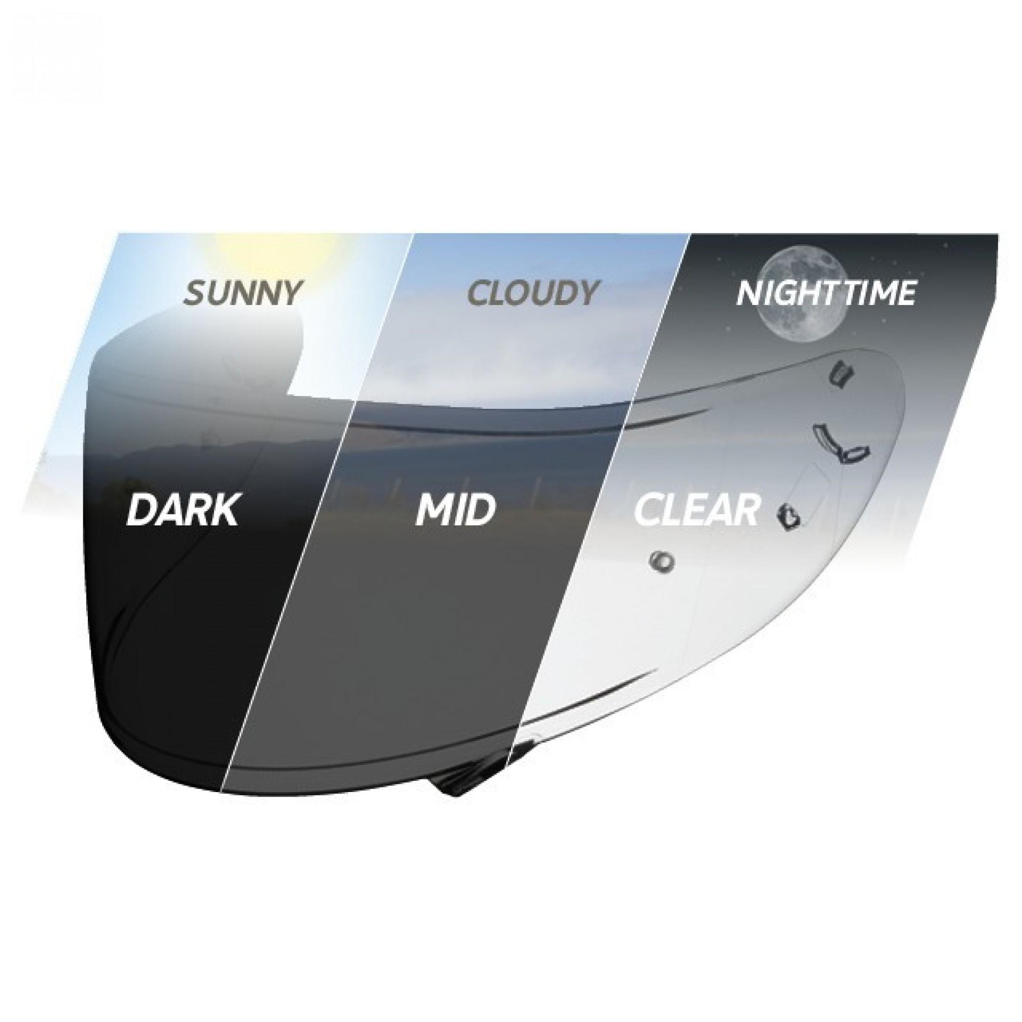 Shoei CWR-1 Photochromic Transitions Pinlock Shield