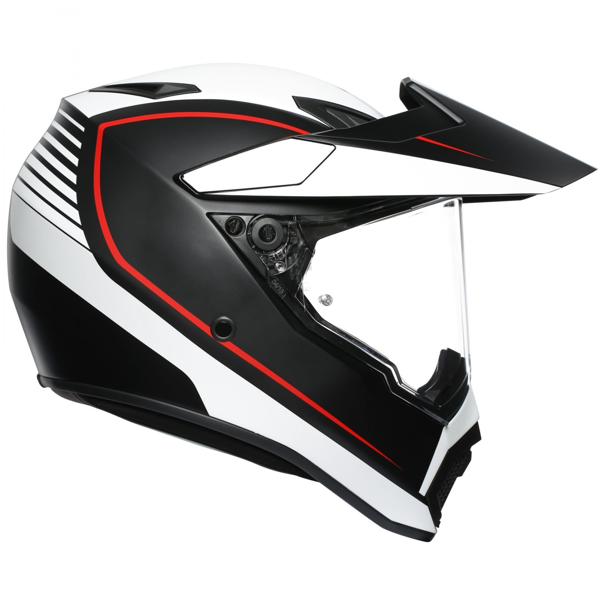 AGV AX-9 Pacific Road Black White Red